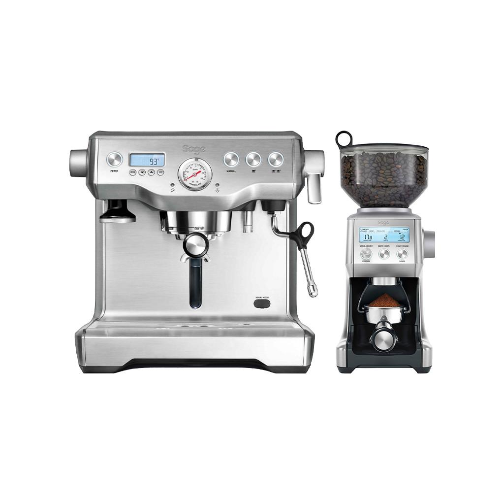 Sage the Dual Boiler Stainless Steel + Koffiemolen