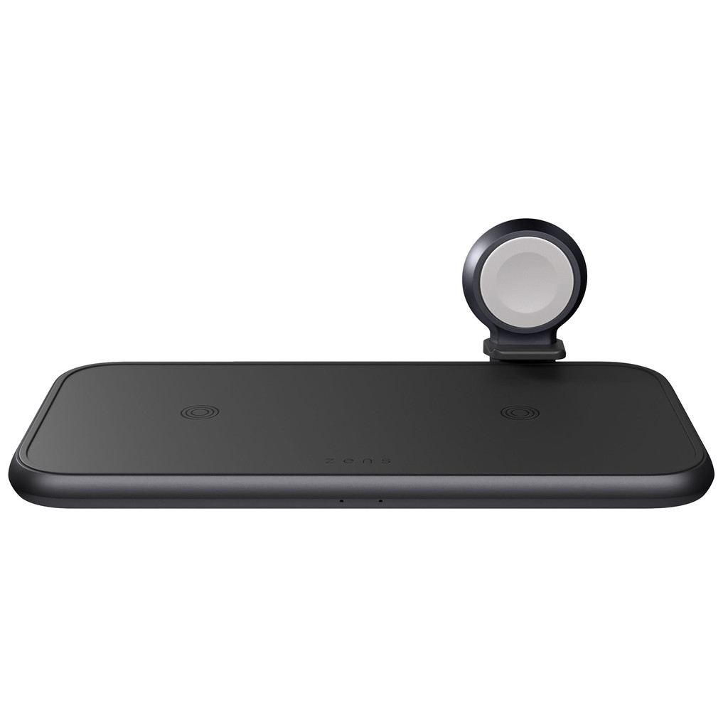 ZENS 4 in 1 Draadloze Oplader 10W met Apple Watch Stand Zwart