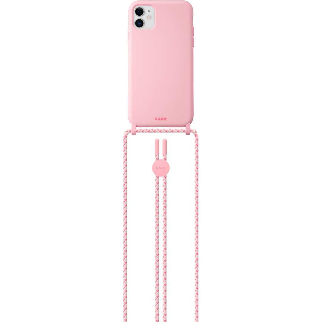 Laut PASTELS Apple iPhone 12 Mini Back Cover met Koord Roze