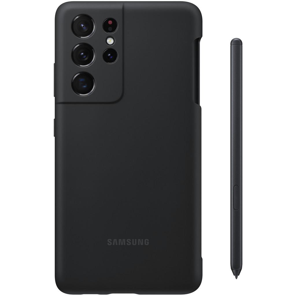 Tweedekans Samsung Galaxy S21 Ultra Siliconen Back Cover Zwart met S Pen Tweedehands