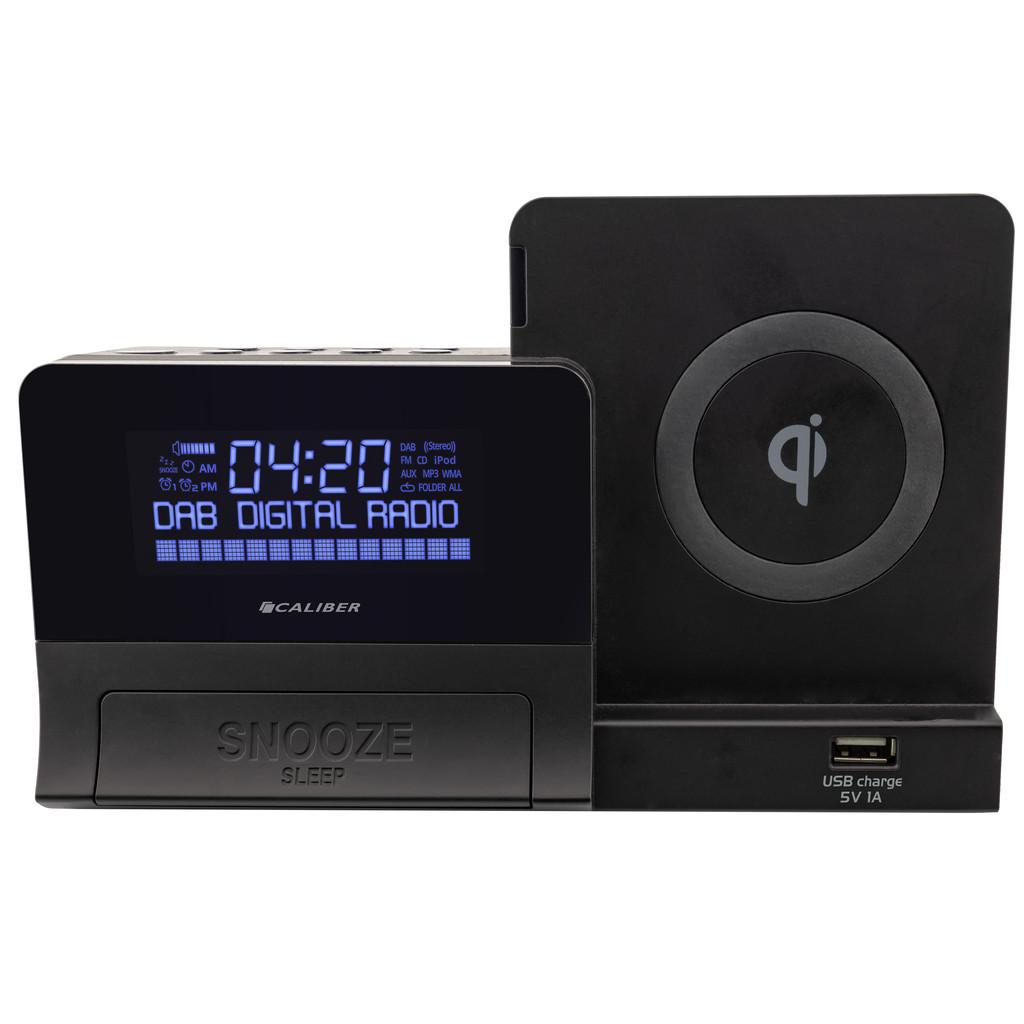 Caliber Wekkerradio met DAB+ en draadloze Qi telefoon oplader (HCG012QiDAB-BT)