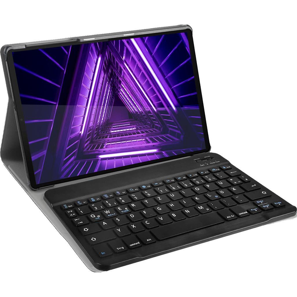 Tweedekans Just in Case Lenovo Tab M10 HD (2de generatie) Premium Toetsenbord Hoes QWERTY Zwart Tweedehands