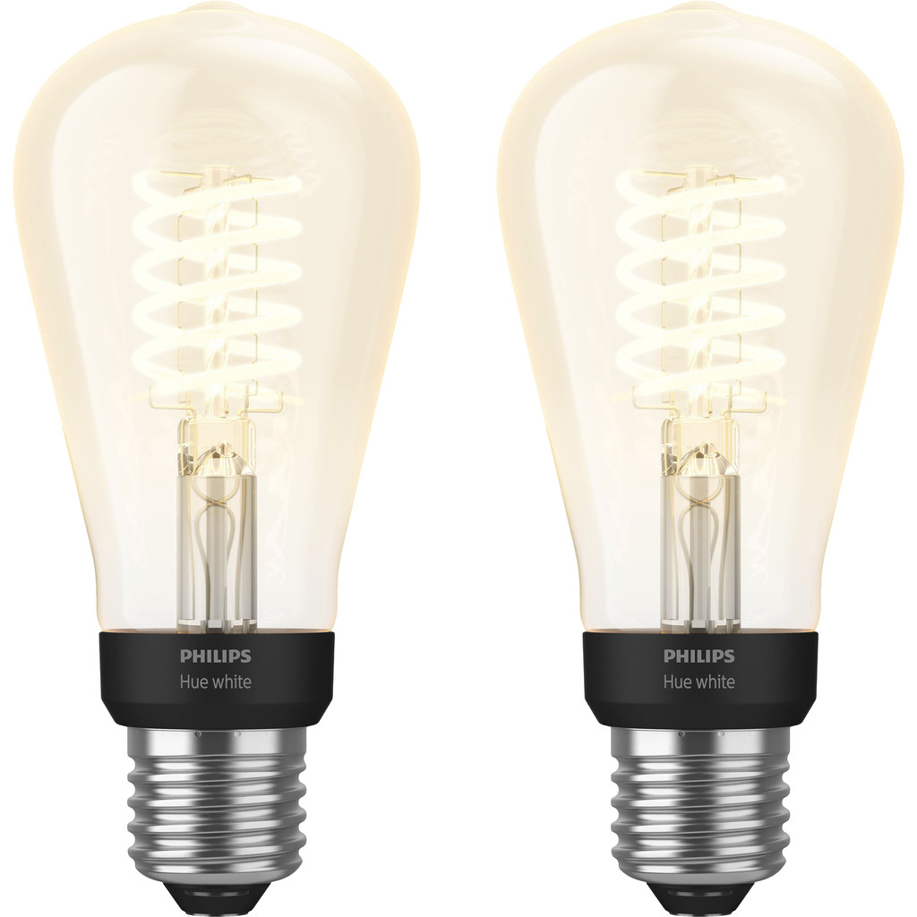 Philips Hue Filamentlamp White Edison E27 Bluetooth Duo Pack