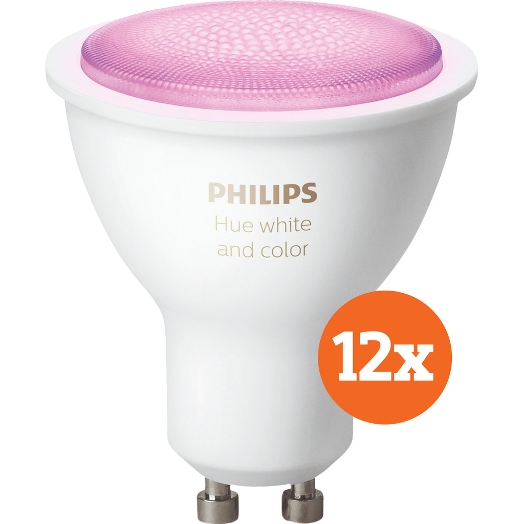 Philips Hue White and Color GU10 Bluetooth 12-Pack