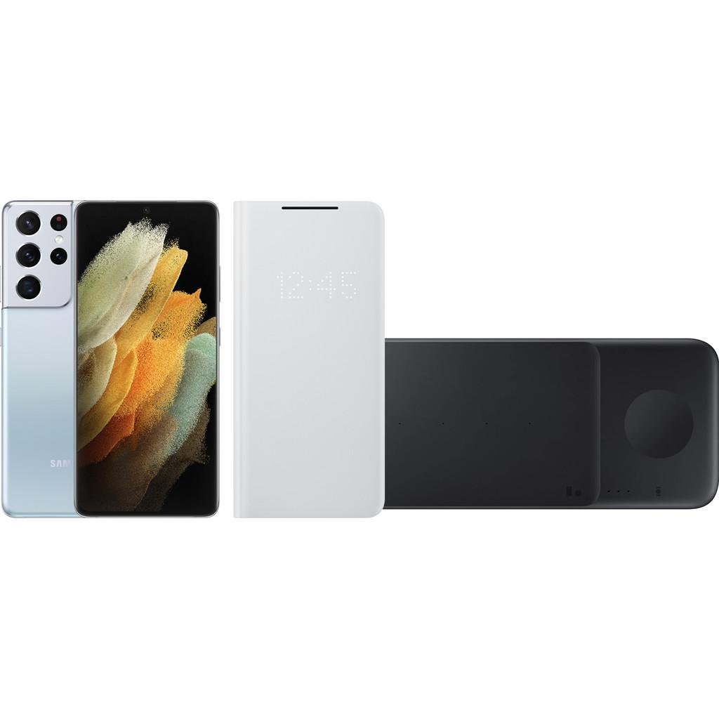 Starterspakket - Samsung Galaxy S21 Ultra 512GB Zilver 5G-512 GB opslagcapaciteit  6,8 inch quad hd scherm  Android 11