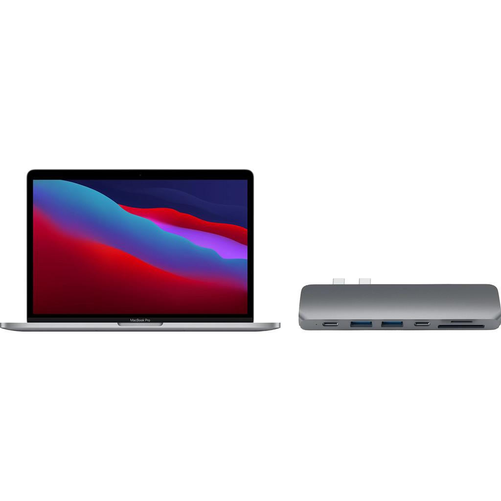 "Apple MacBook Pro 13"" (2020) 16GB/256GB Apple M1 Space Gray + Satechi usb C hub"