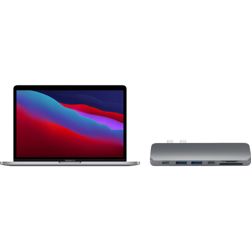 "Apple MacBook Pro 13"" (2020) 16GB/512GB Apple M1 Space Gray + Satechi usb C hub"