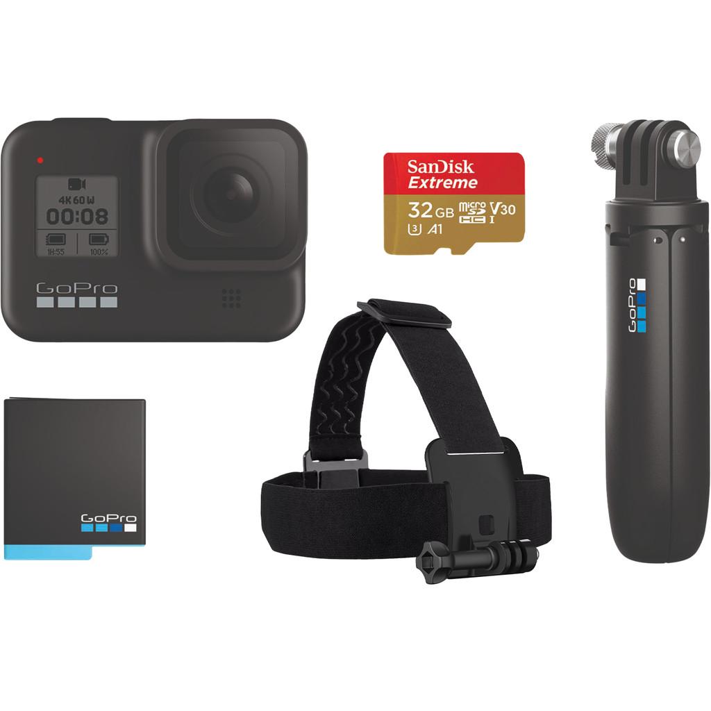 GoPro HERO 8 Black Bundel-4K met 60 frames per seconde  12 megapixel foto's  Waterdicht tot 10 meter