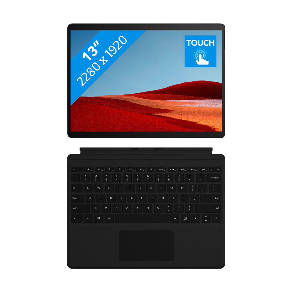 Microsoft Surface Pro X - SQ2 - 16GB - 256GB Zwart + Type Cover
