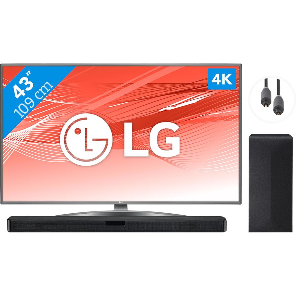 LG 43UN81006LB + Soundbar + Optische kabel
