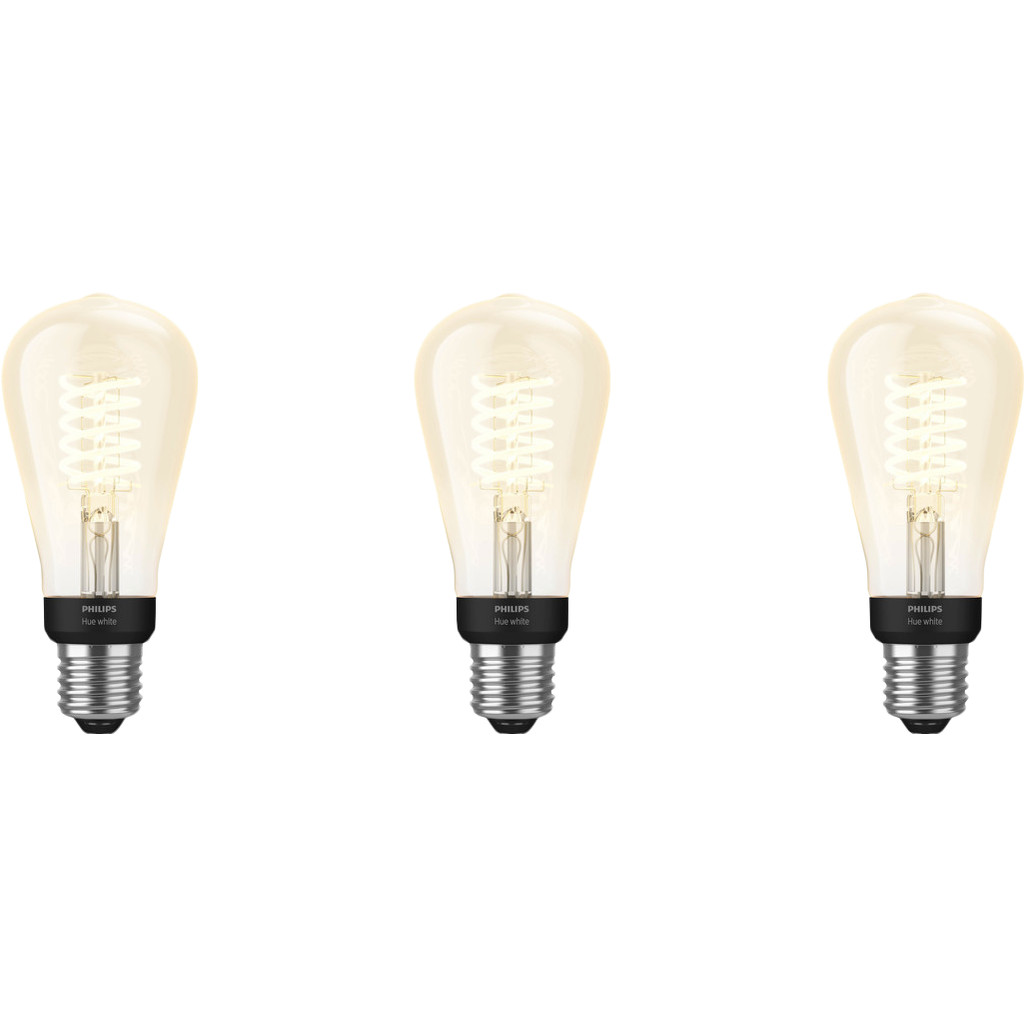 Philips Hue Filamentlamp White Edison E27 Bluetooth 3 Pack Nu voor 67 euro!