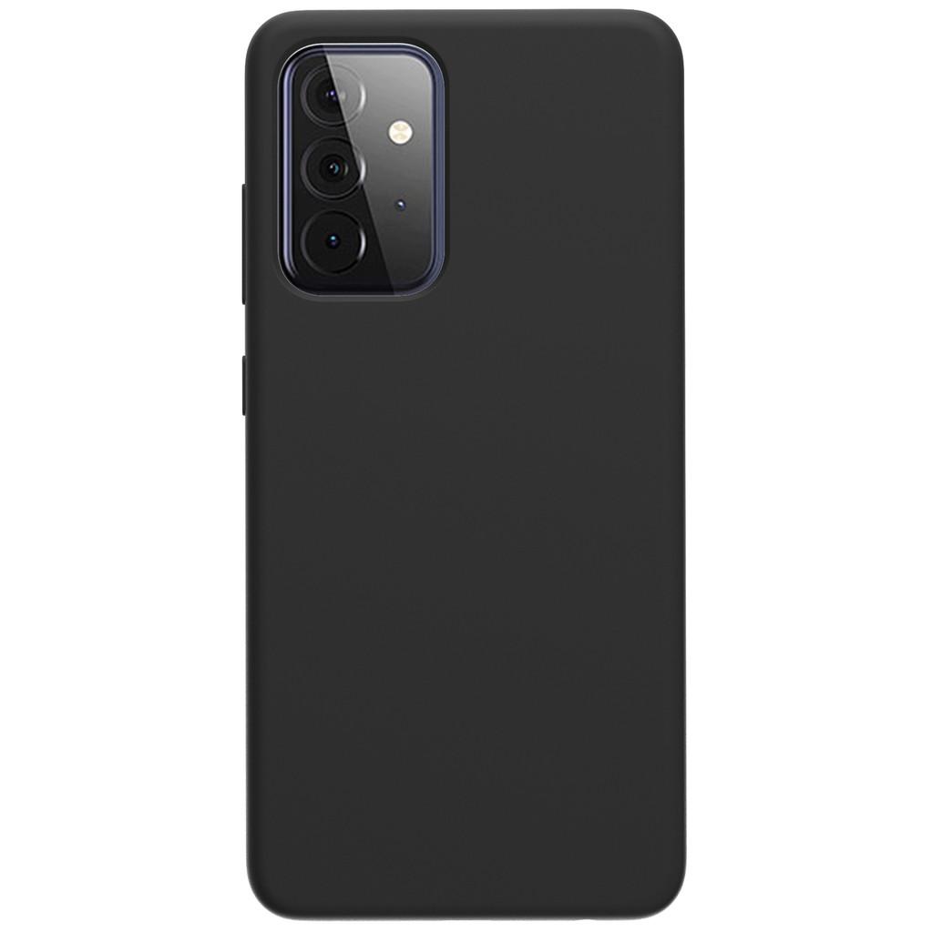 Azuri Samsung Galaxy A72 Back Cover Siliconen Zwart