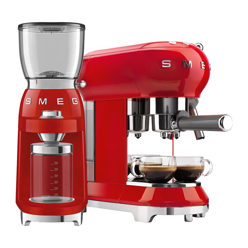 SMEG ECF01RDEU Rood Koffiemolen
