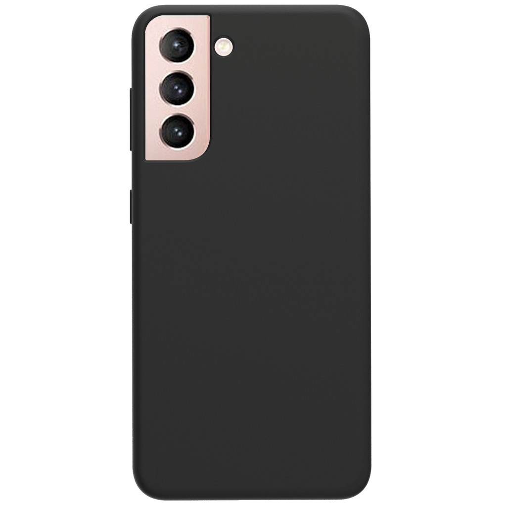 Azuri Samsung Galaxy S21 Plus Back Cover Siliconen Zwart