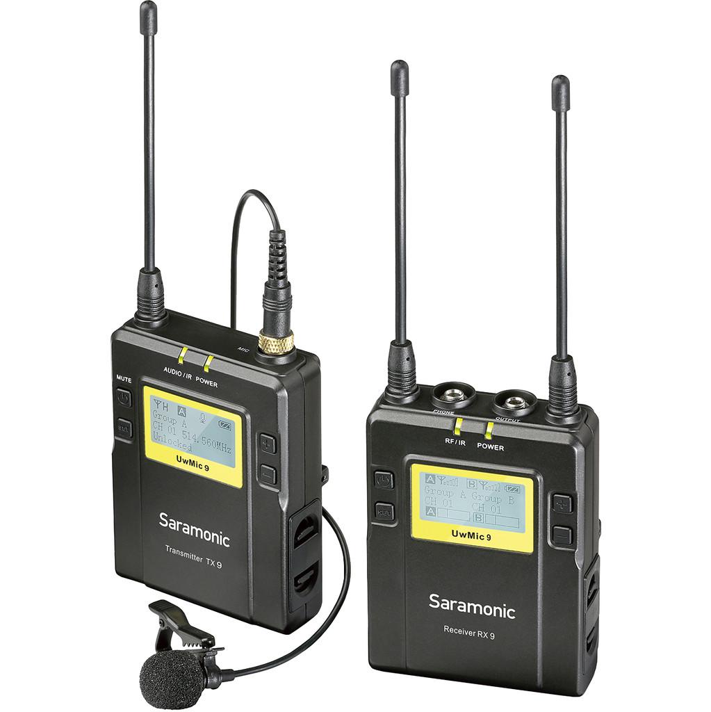 Saramonic Lavalier Microfoon Set UwMic9 TX9 + RX9 UHF Draadloos