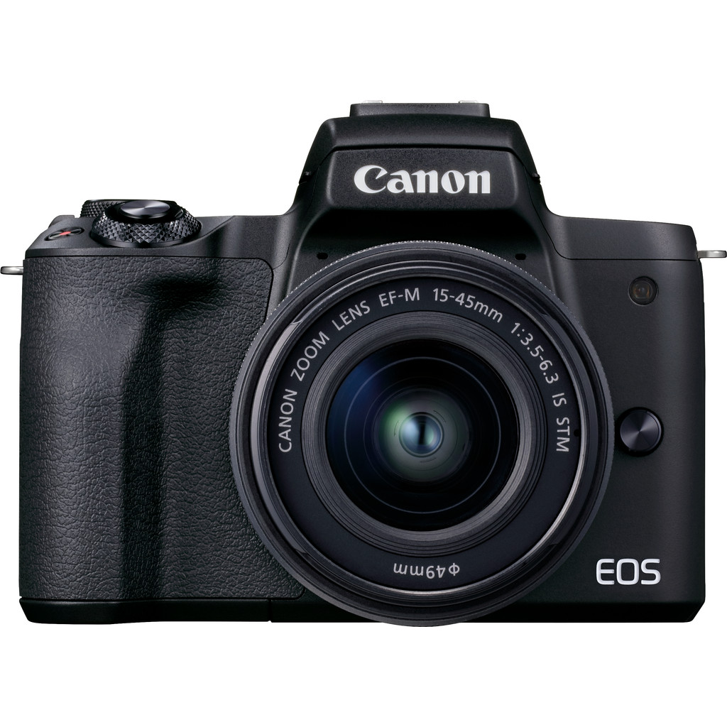 Canon EOS M50 Mark II Zwart + 15-45mm IS STM Zwart + 55-200mm IS STM Zwart-24,1 megapixel APS-C sensor  Filmt in 4K Ultra HD  Met wifi en bluetooth