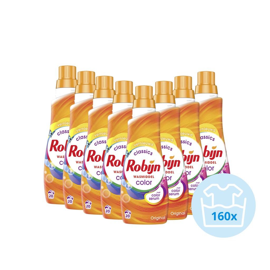 Robijn Klein & Krachtig Color Wasmiddel - Halfjaarpakket