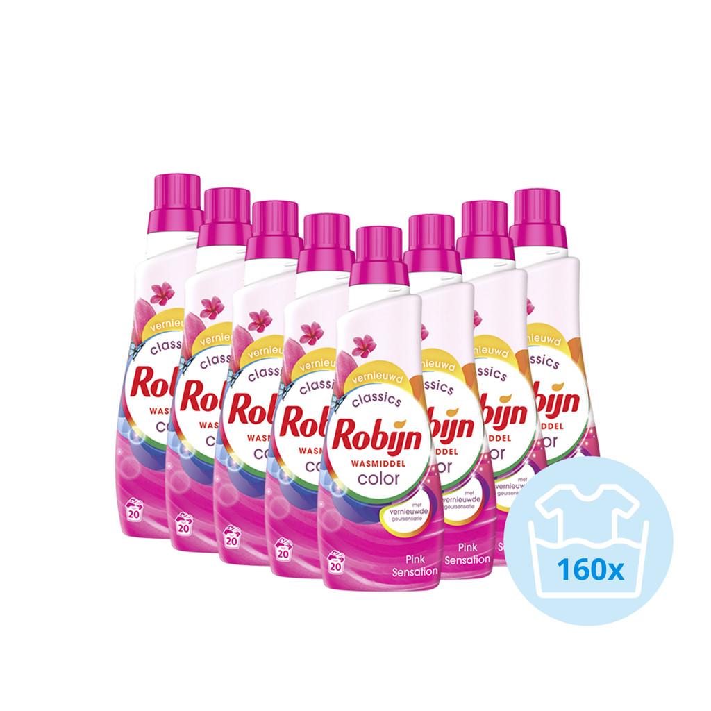 Robijn Klein & Krachtig Color Pink Sensation Wasmiddel - Halfjaarpakket