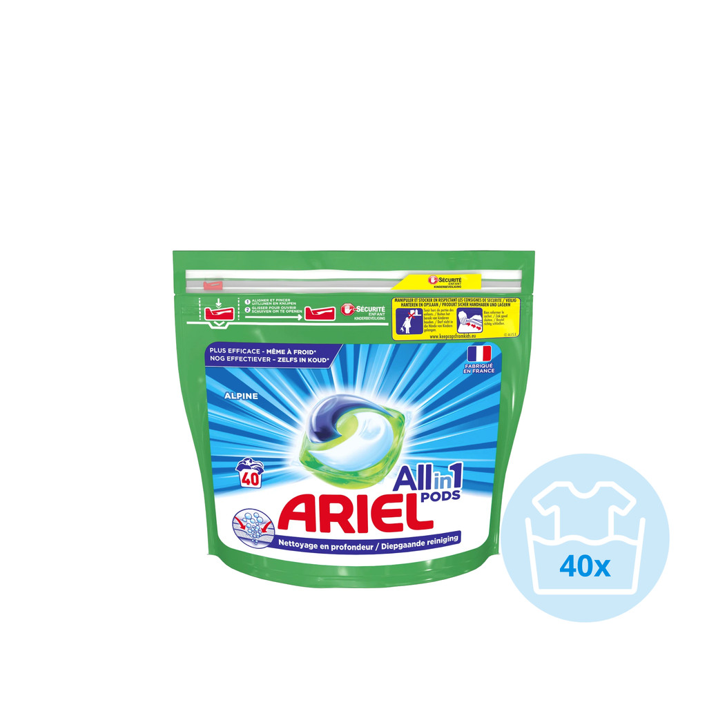 Ariel All-in-1 Pods Alpine 40 stuks