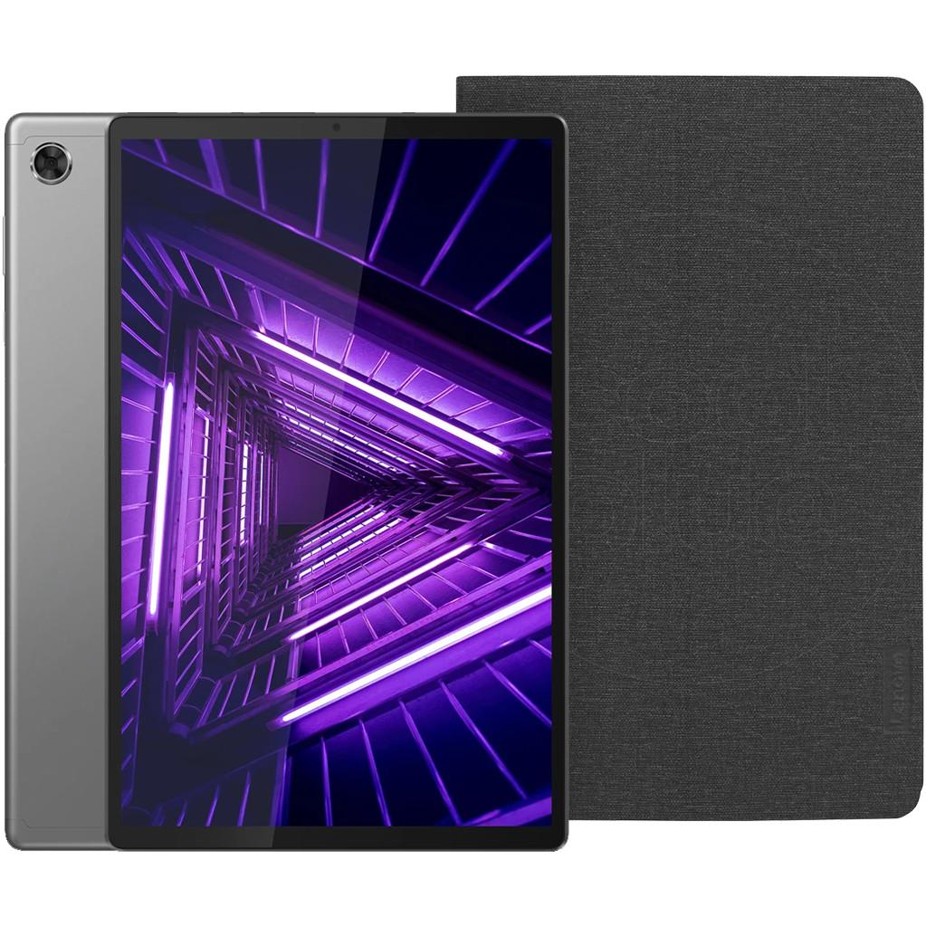 Lenovo Tab M10 Plus (2de generatie) 64GB Wifi + 4G Grijs + Lenovo Book Case Zwart