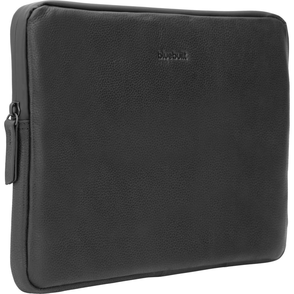 BlueBuilt Laptophoes Leer Zwart / Voor 13 inch Apple MacBook Air/Pro