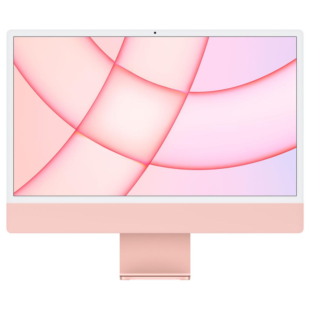 """Tweedekans Apple iMac 24"""" (2021) MGPM3N/A 8GB/256GB 8 core GPU Roze Tweedehands"""
