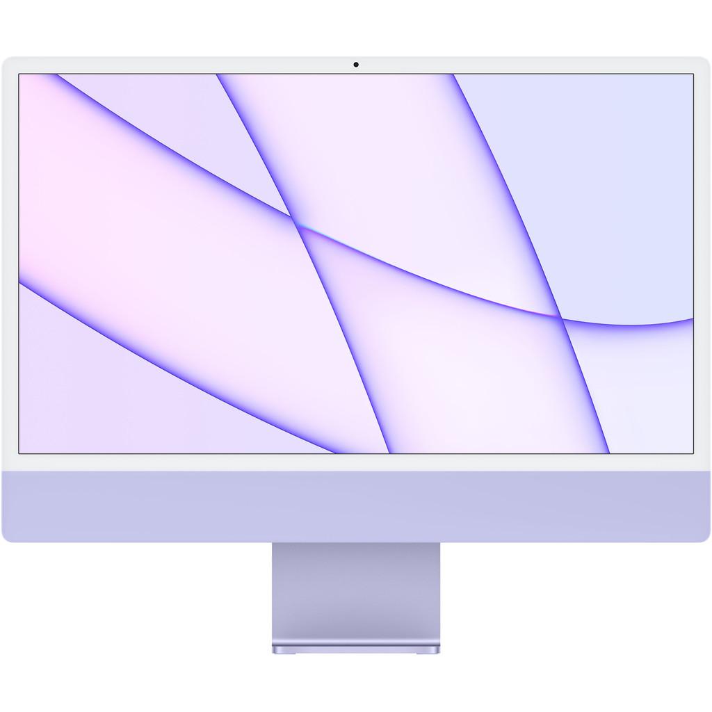 """Tweedekans Apple iMac 24"""" (2021) 8GB/512GB Apple M1 met 8 core GPU Paars Tweedehands"""