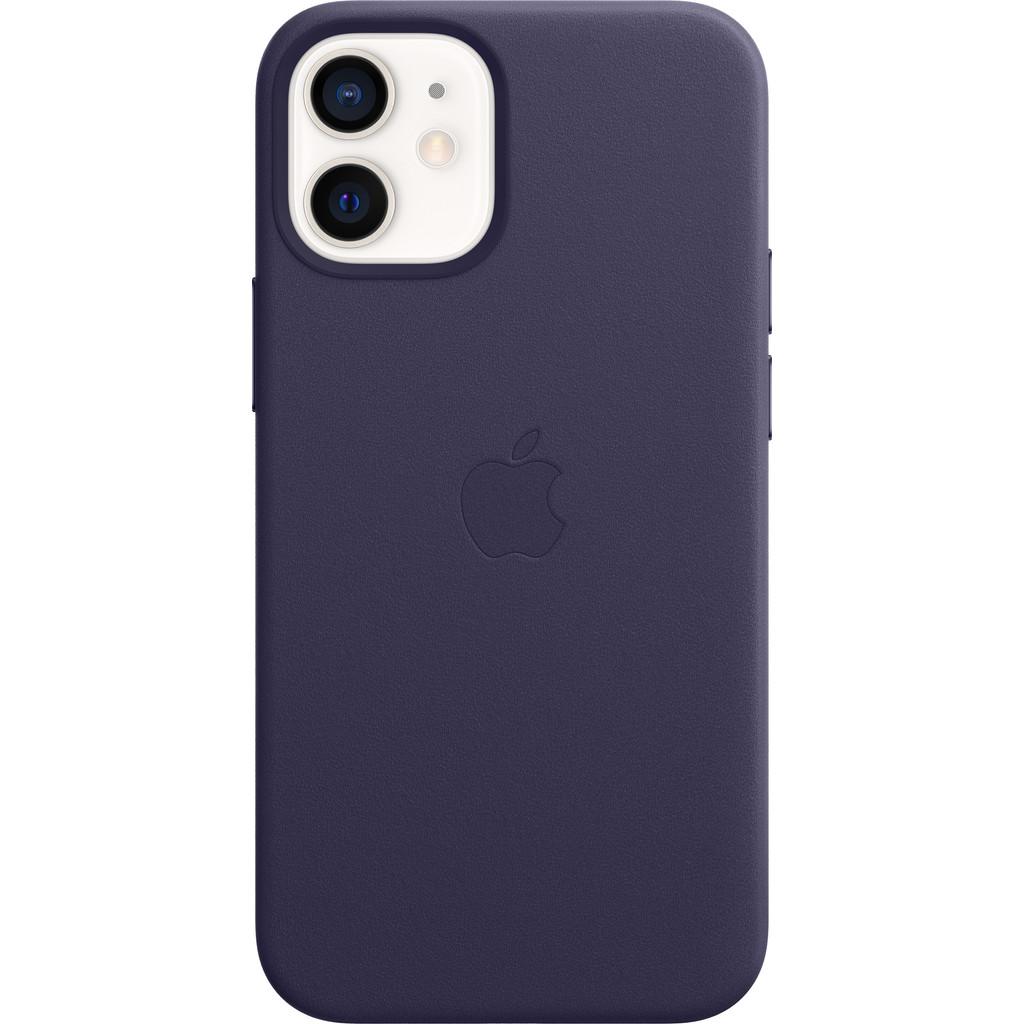 Tweedekans Apple iPhone 12 mini Back Cover met MagSafe Leer Donkerviolet Tweedehands