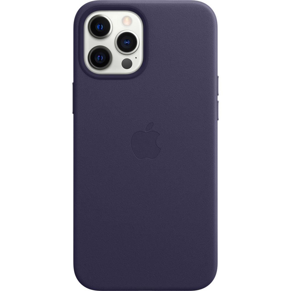 Tweedekans Apple iPhone 12 Pro Max Back Cover met MagSafe Leer Donkerviolet Tweedehands