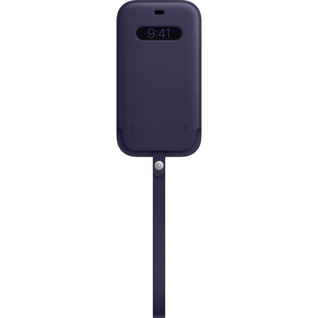 Tweedekans Apple iPhone 12 Pro Max Leren Sleeve with MagSafe Donkerviolet Tweedehands