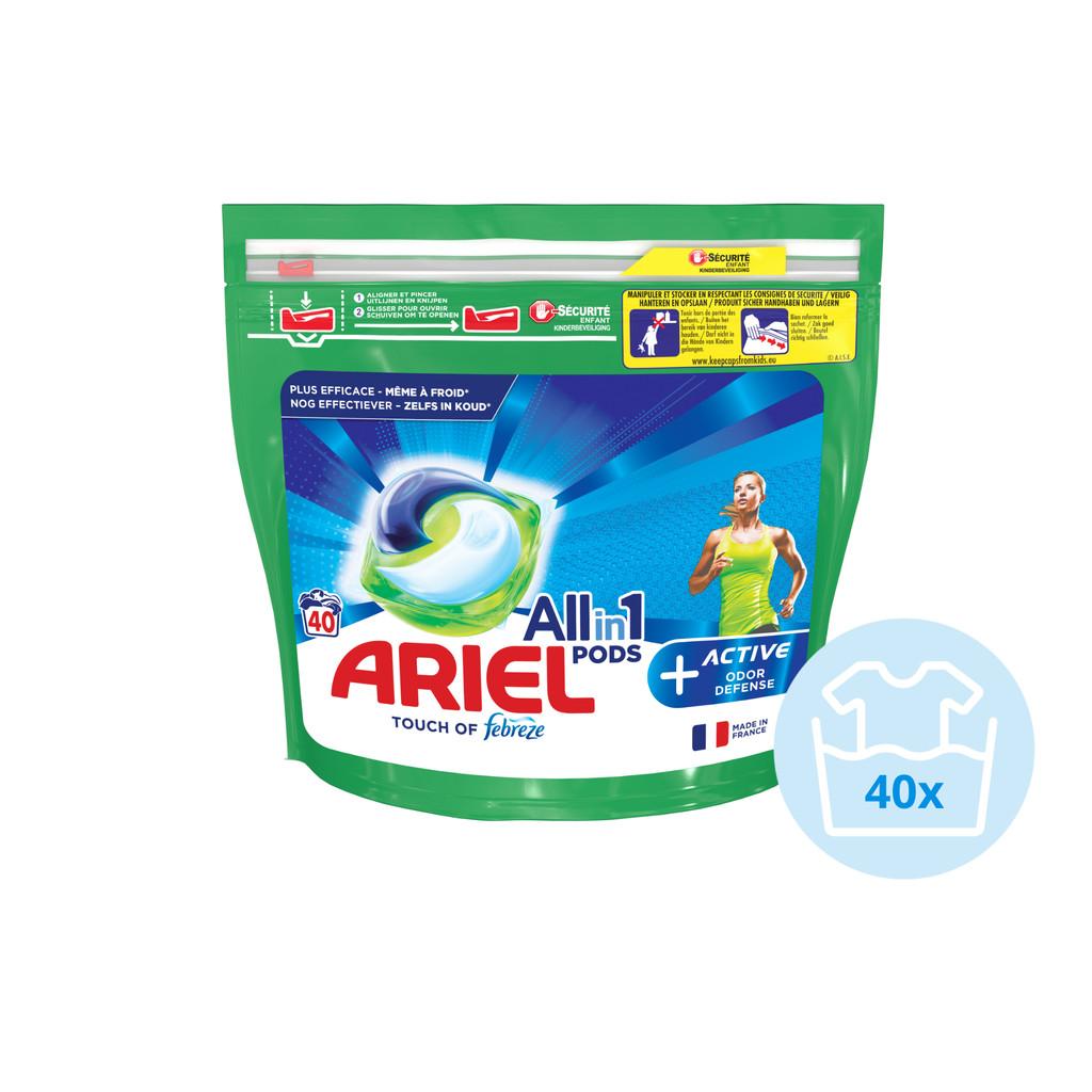 Ariel All-in-1 Pods met actieve geurbestrijding 40 stuks