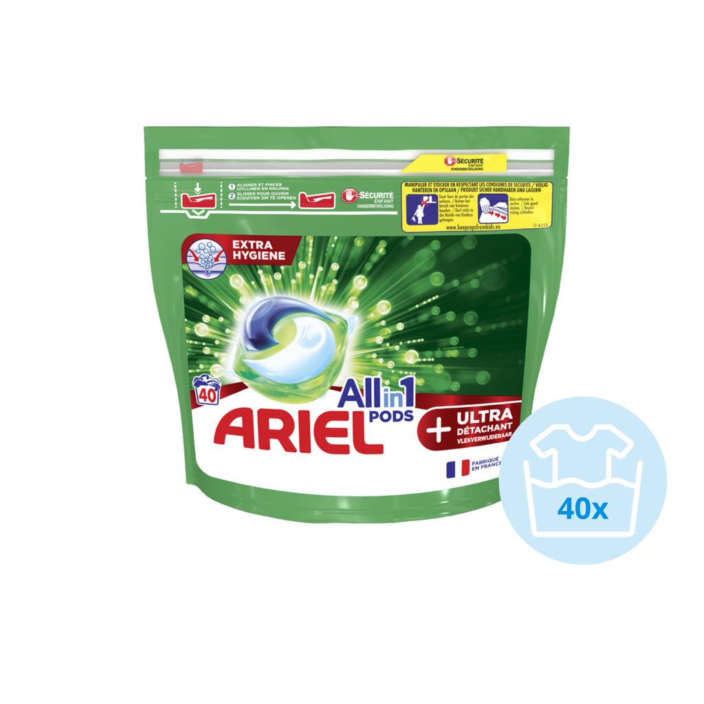 Ariel All-in-1 Pods met ultra vlekverwijderaar 40 stuks