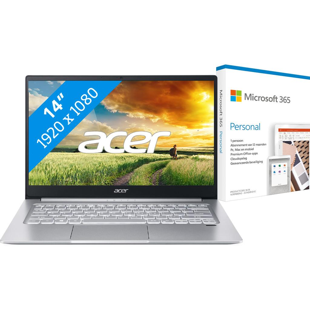 Acer Swift 3 SF314-59-52UX + Microsoft 365 Personal NL Abonnement 1 jaar