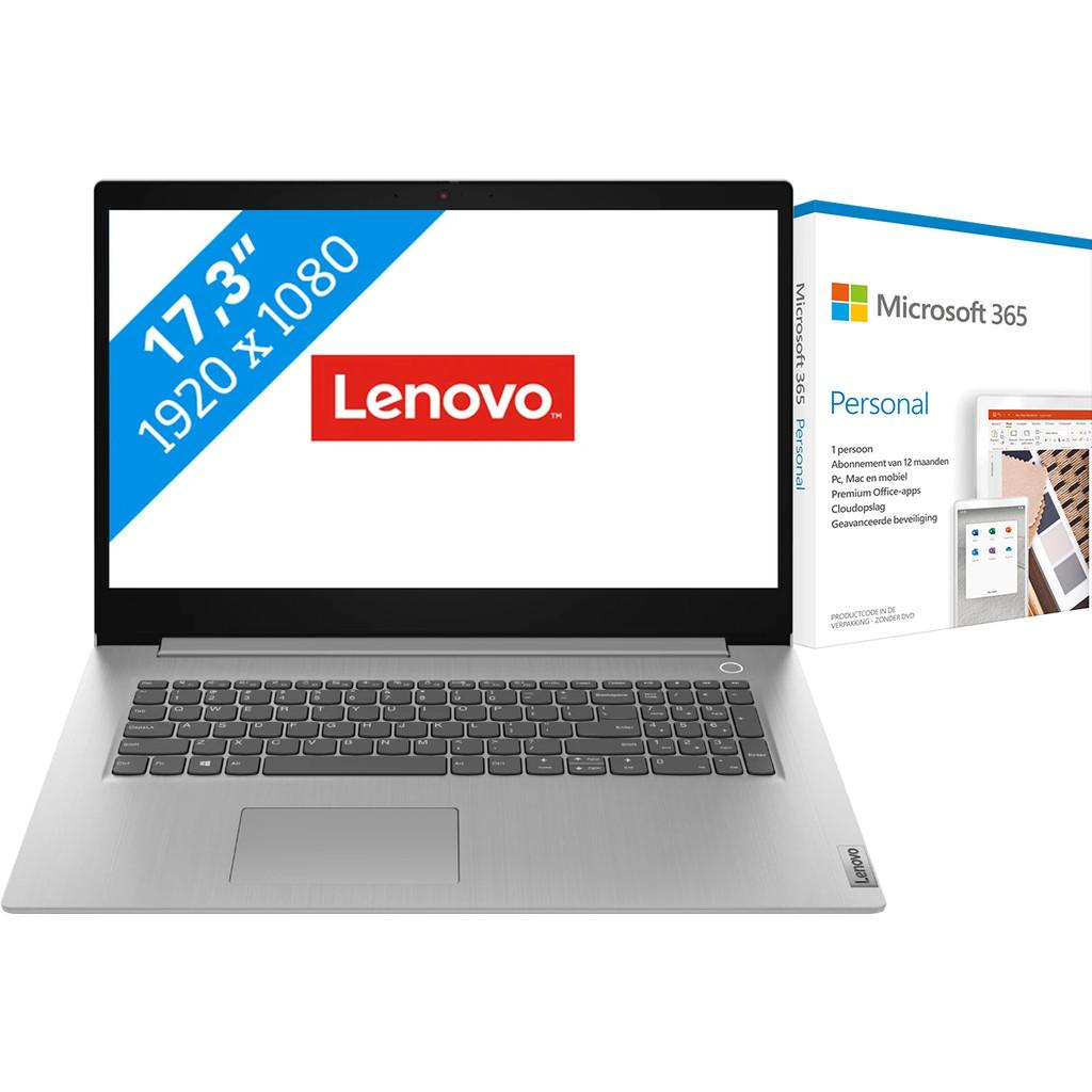 Lenovo IdeaPad 3 17IML05 81WC008DMH + Microsoft 365 Personal NL Abonnement 1 jaar