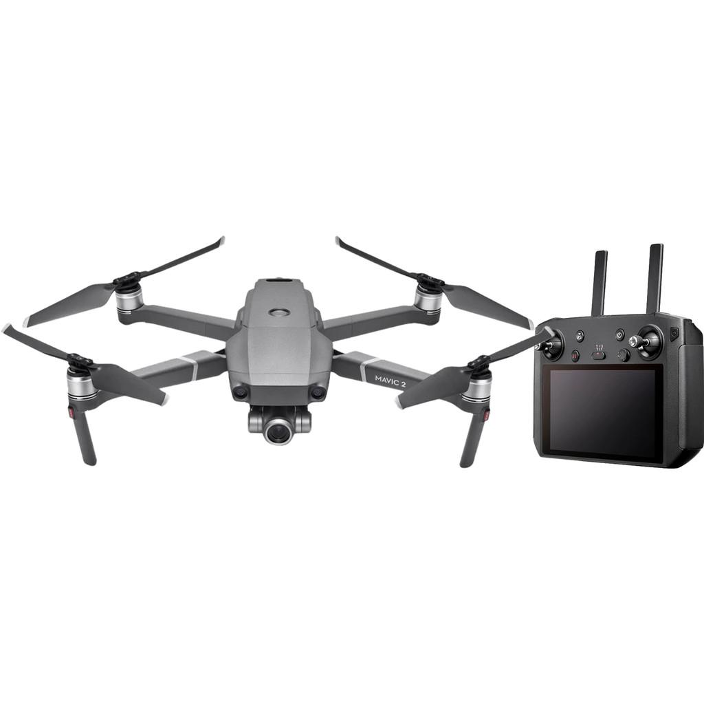 DJI Mavic 2 Zoom + Smart Controller-12 megapixels, filmt in 4K  Met 2 afstandsbedieningen  360 graden obstakeldetectie