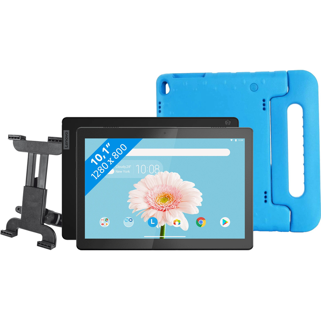 Lenovo Tab M10 2GB 32GB Wifi Zwart + Kinderhoes + Autohouder