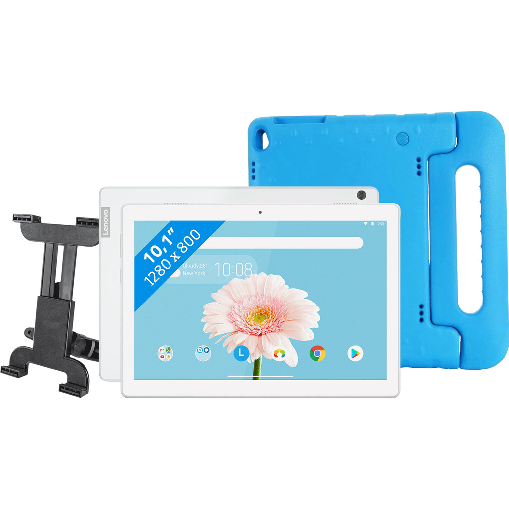 Lenovo Tab M10 2GB 32GB Wifi Wit + Kinderhoes + Autohouder