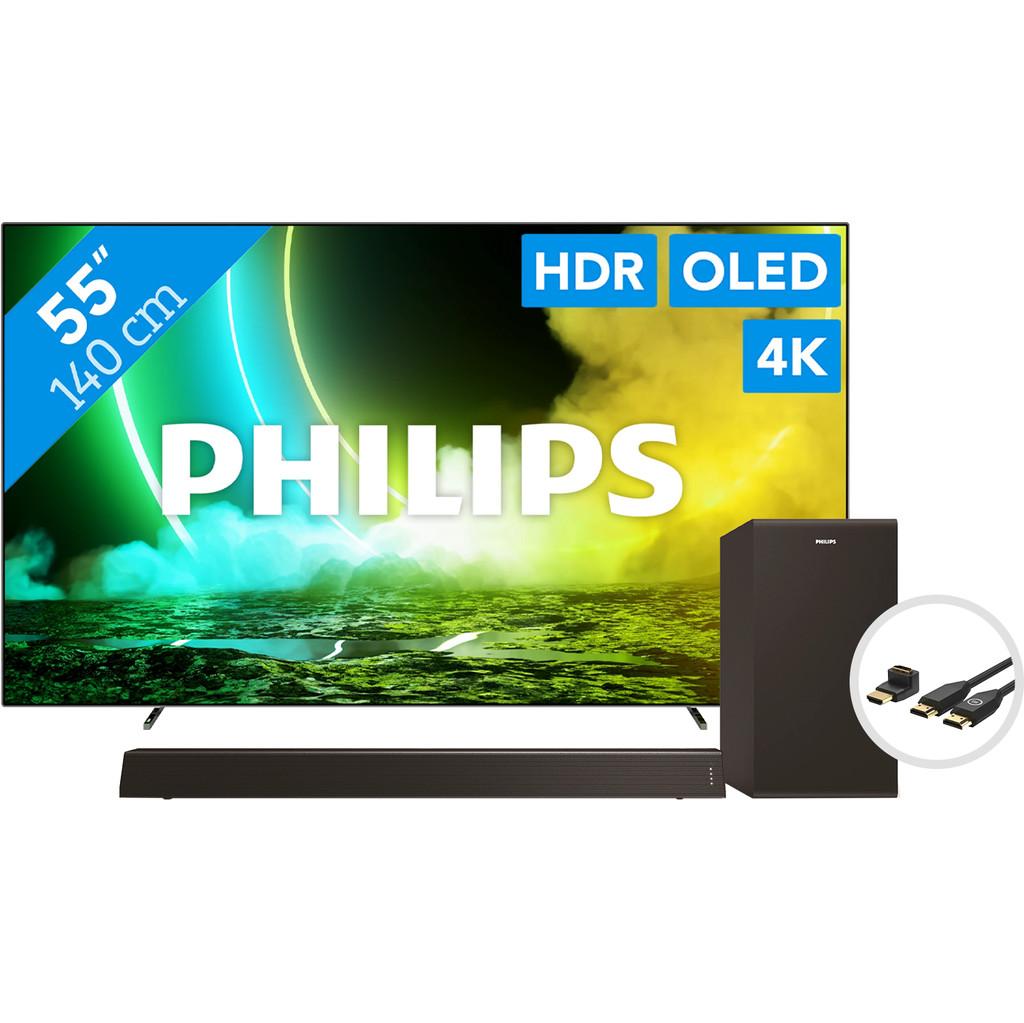 Philips 55OLED705 + Soundbar + HDMI kabel