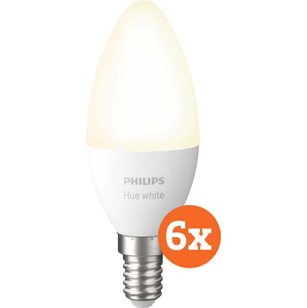 Philips Hue White E14 Bluetooth 6-Pack