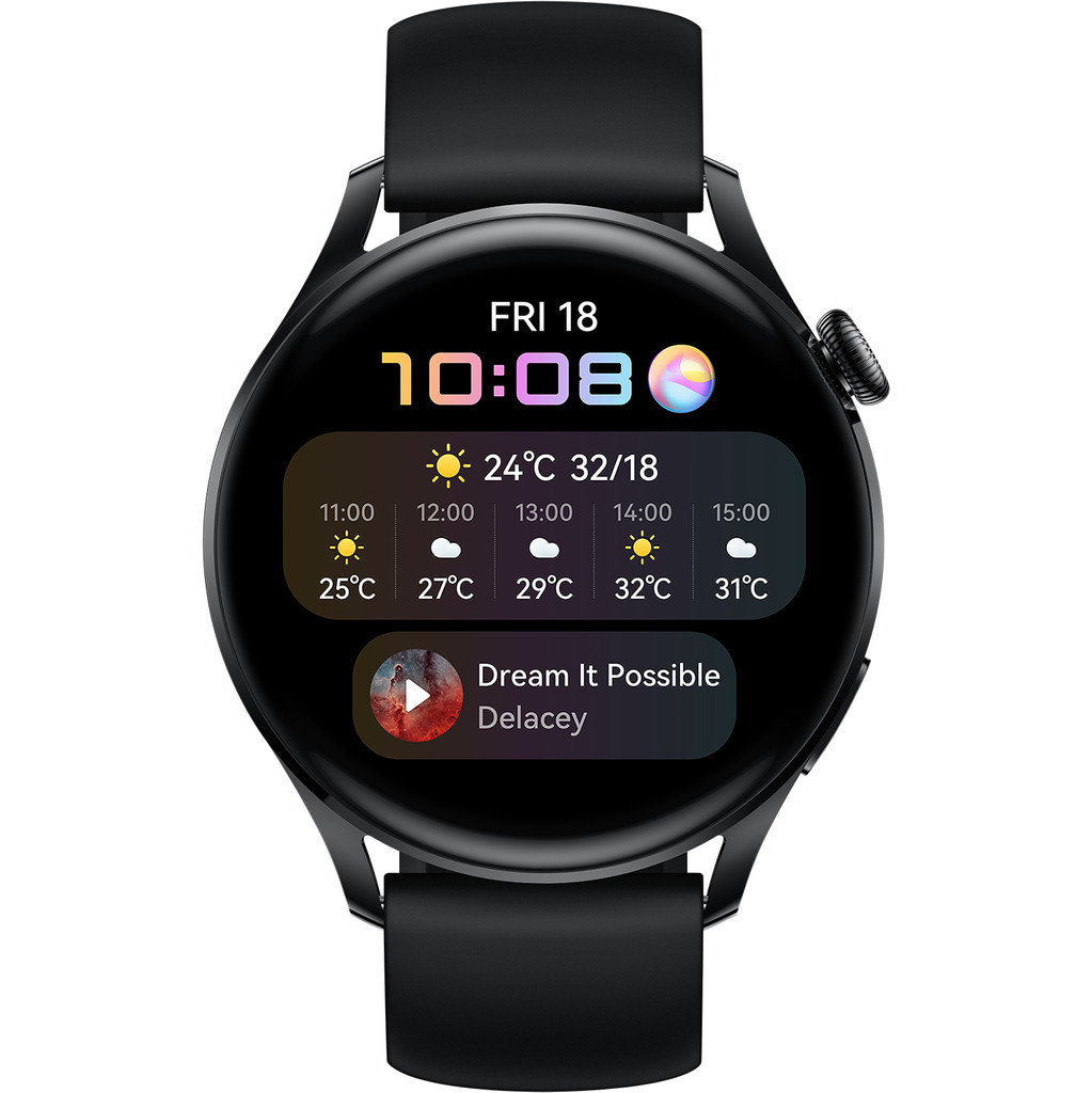 Tweedekans Huawei Watch 3 Active 4G Zwart/Zwart 46mm Tweedehands
