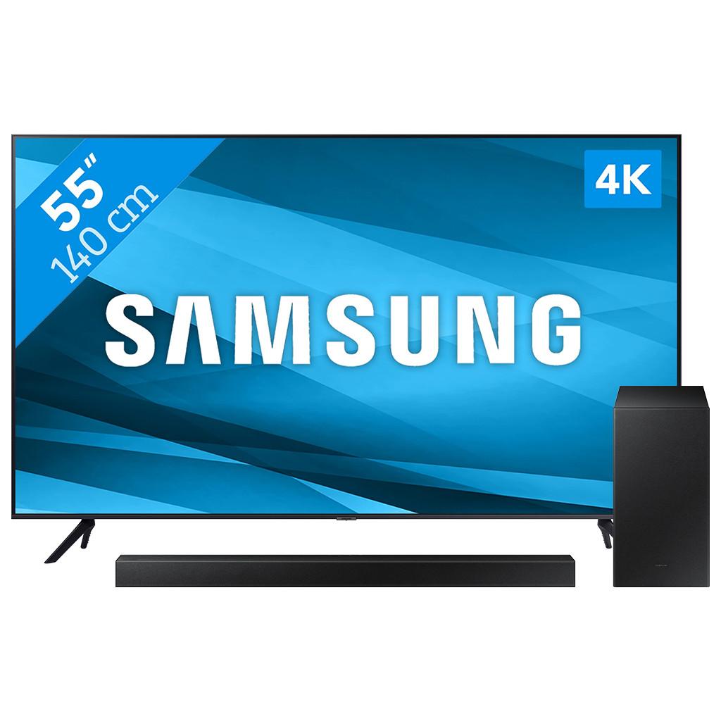 Samsung Crystal UHD 55AU7100 (2021) + Soundbar