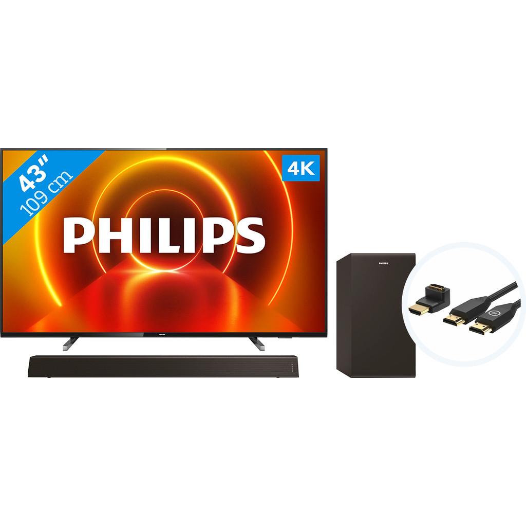 Philips 43PUS7805 - Ambilight + Soundbar + HDMI kabel