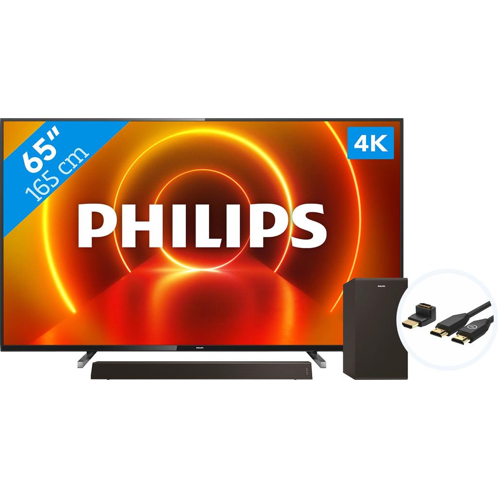 Philips 65PUS7805 - Ambilight + Soundbar + HDMI kabel