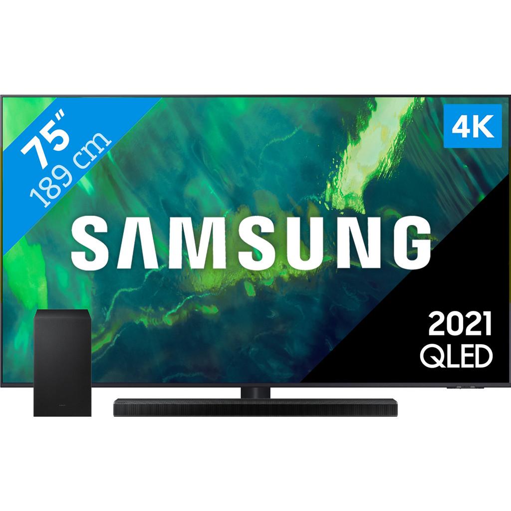 Samsung QLED 75Q74A (2021) + Soundbar
