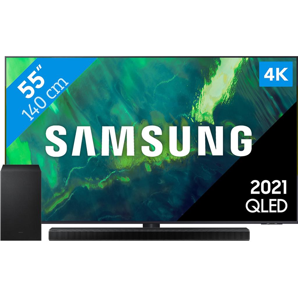 Samsung QLED 55Q74A (2021) + Soundbar
