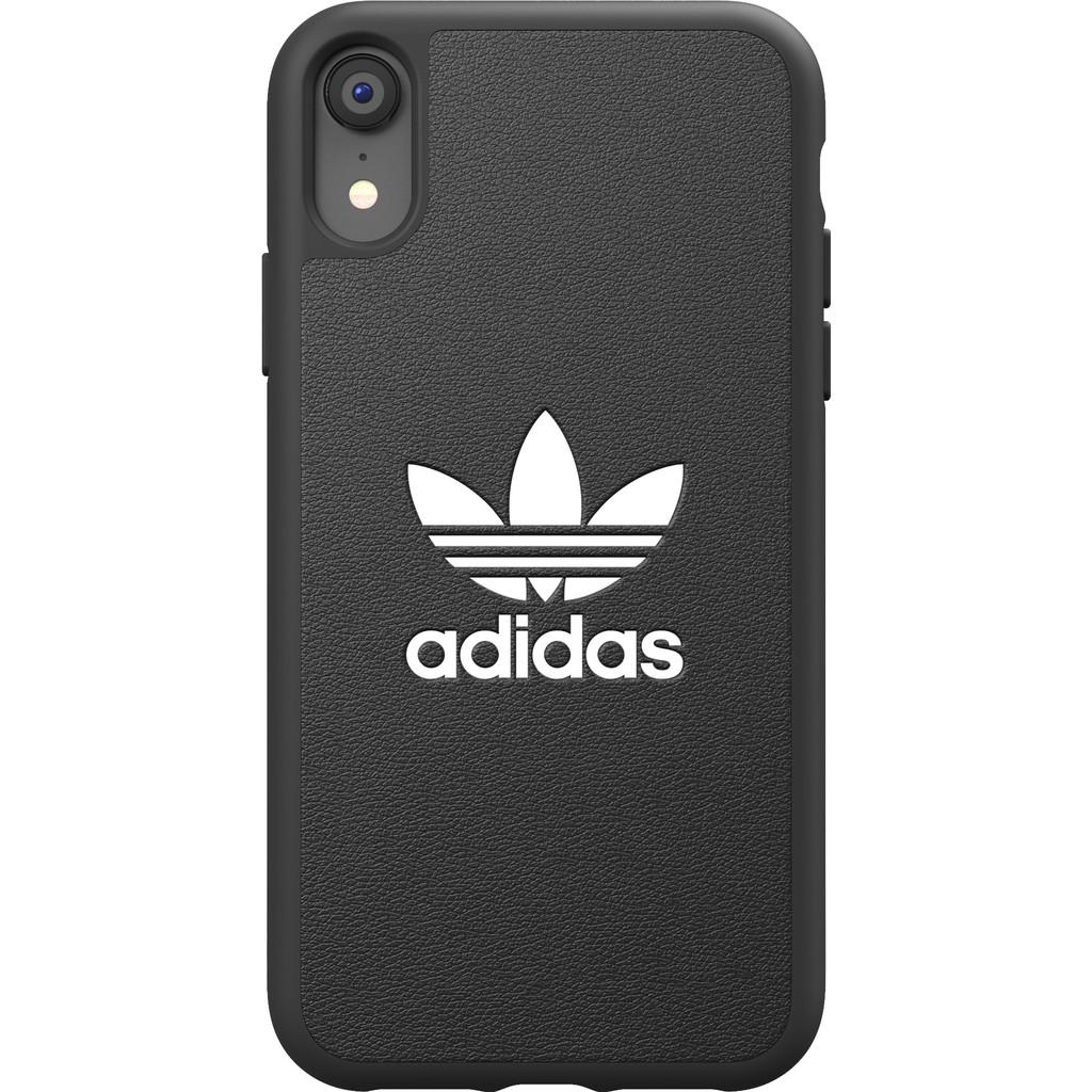 Adidas Apple iPhone Xr Back Cover Leer Zwart