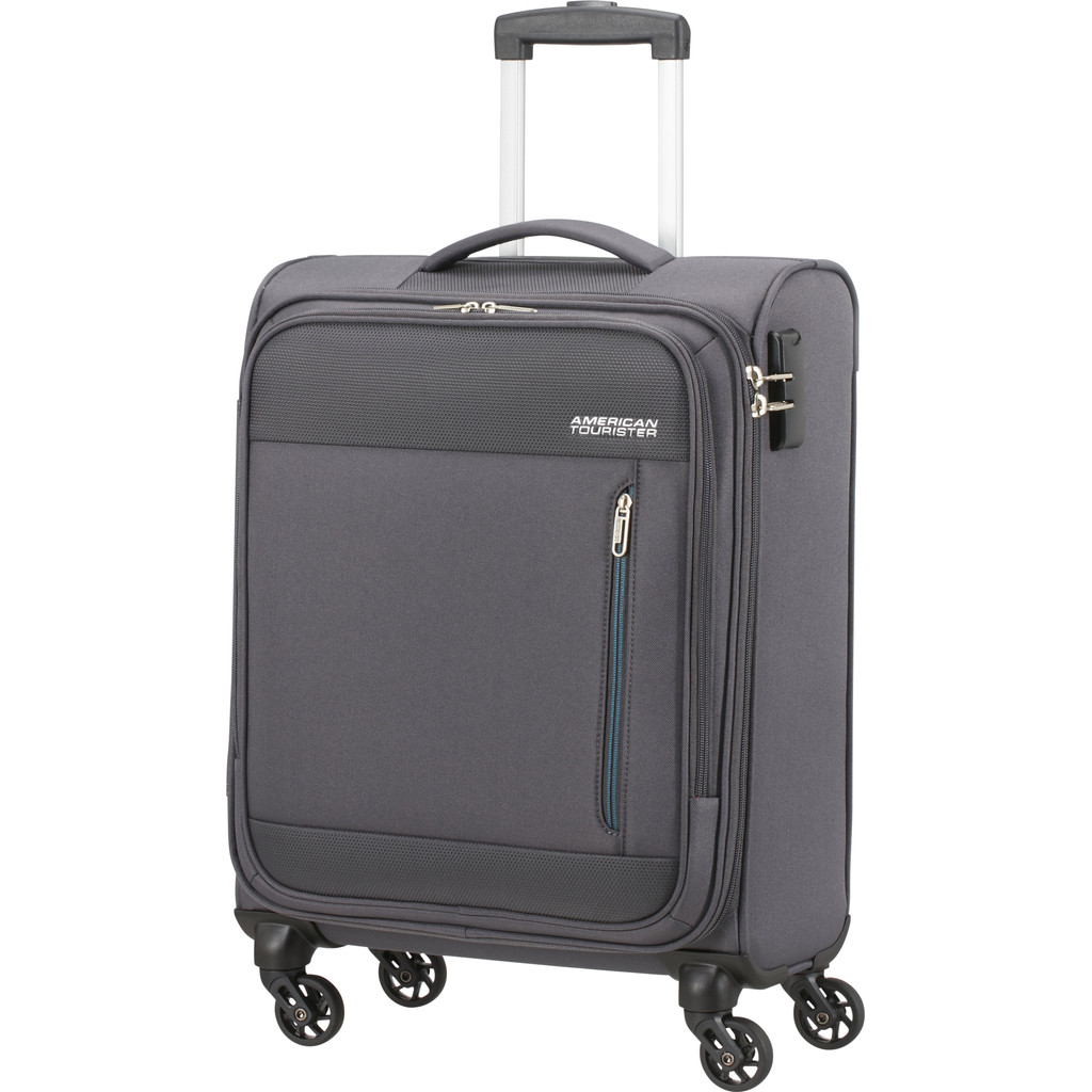 American Tourister Heat Wave Spinner 55cm Charcoal Grey