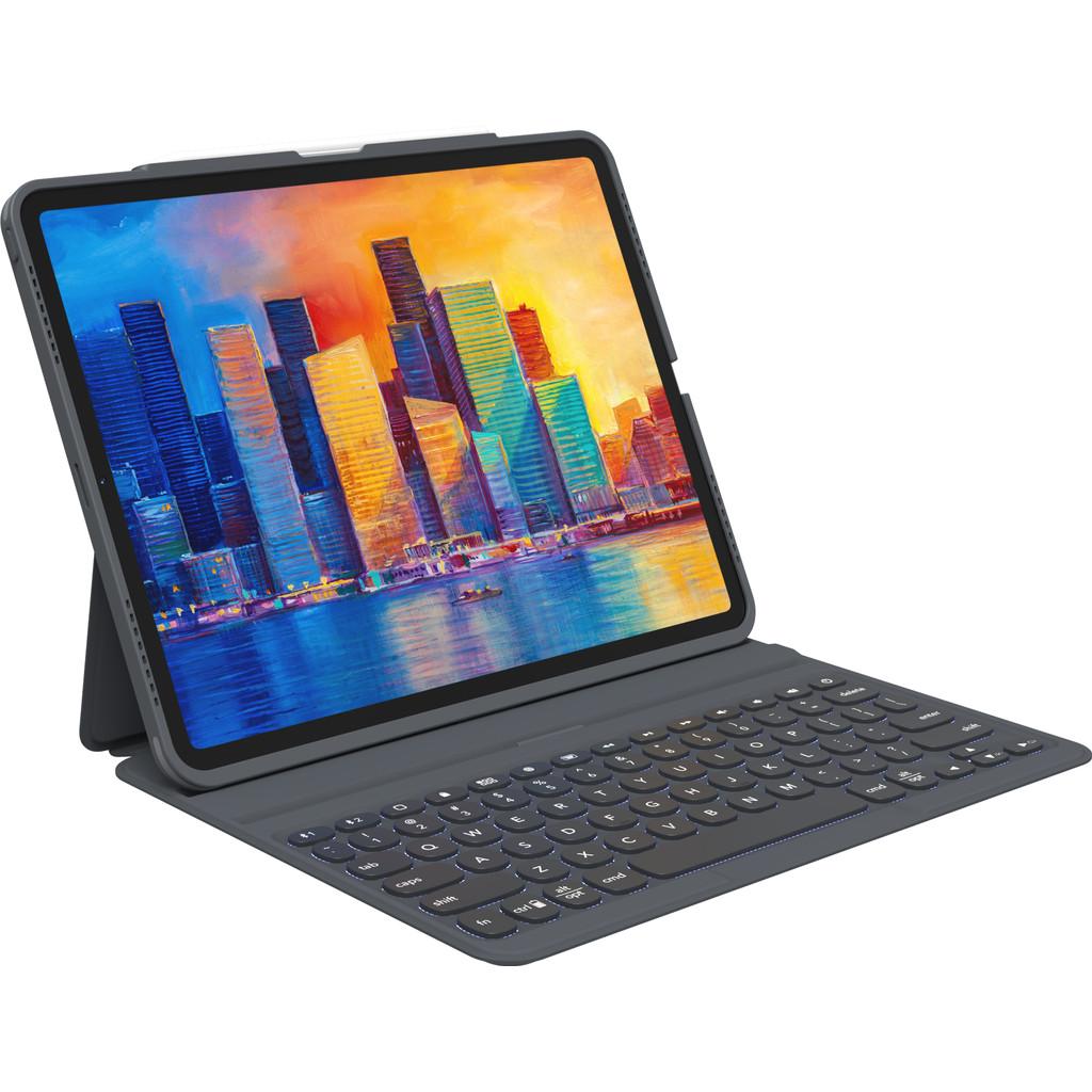 Tweedekans Zagg Pro Keys Apple iPad (2021/2020) Toetsenbord Hoes QWERTY Zwart Tweedehands