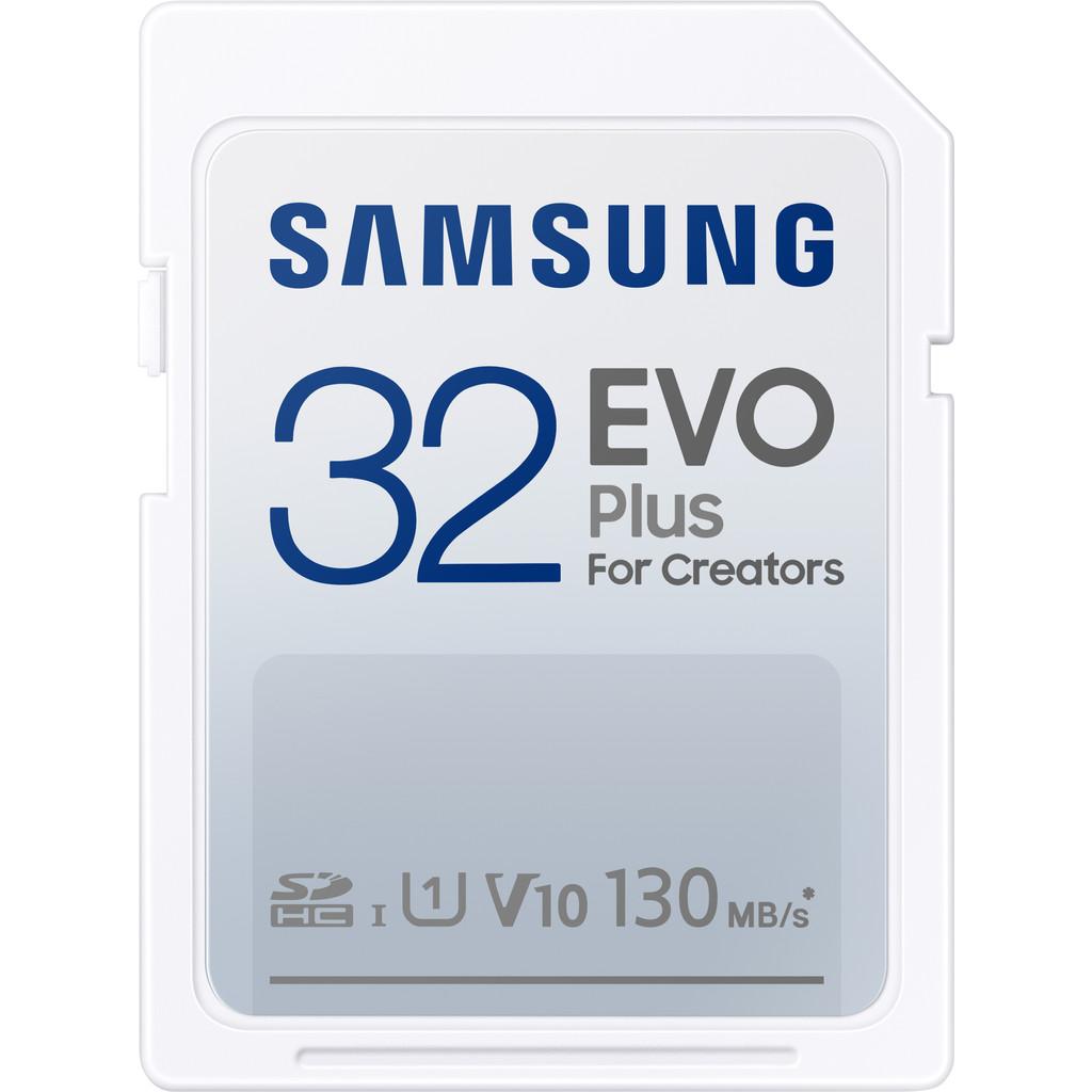 Samsung EVO Plus 32GB, SDHC, UHS-I, U1, 130MB/s, FHD, Memory Card(MB-SC32K)