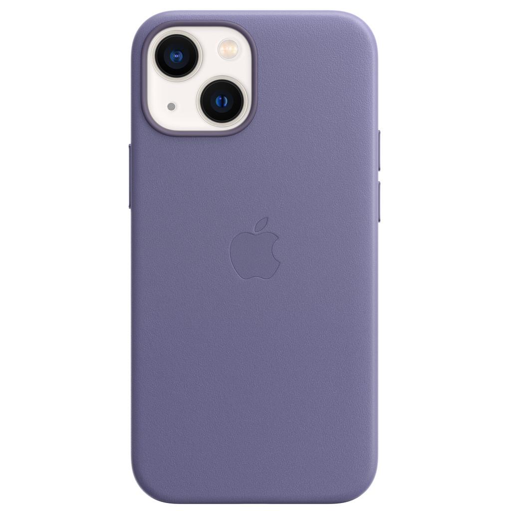Apple iPhone 13 mini Back Cover met MagSafe Leer Blauweregen